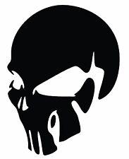 Smiling Skull Motorbike Sticker Vinyl Decal Car Van Tank Fairings Panniers