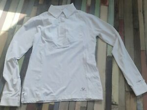 "Aubrion Long Sleeve Tie Show Shirt UK 8 10 34"" XS ."