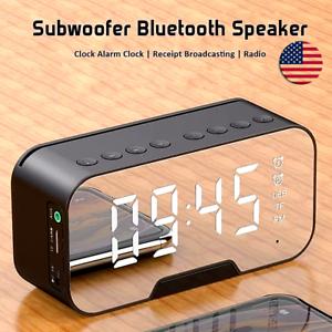 Bosina Altavoz Portátil LED Inalámbrico Speaker con Bluetooth USB/AUX/FM Radio
