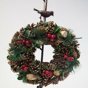 Christmas-Hanging-Door-Wreath-Pine-Cones-and-Berries-2-Designs-Xmas-Decor
