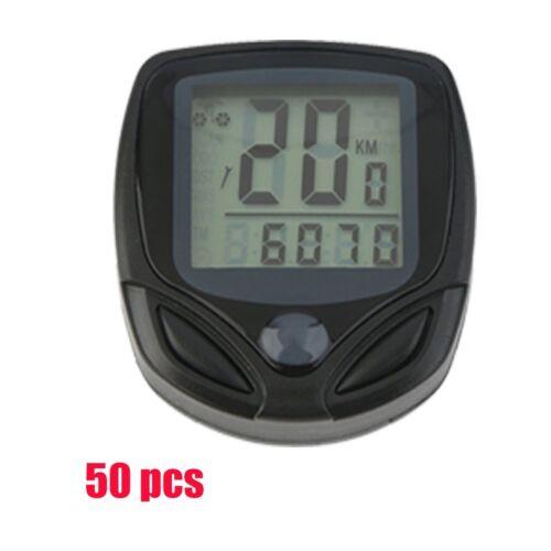 Waterproof Wireless LCD Digital Cycle Bike Bicycle Computer Speedometer/&Odometer