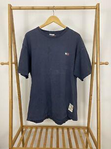 VTG-90s-Tommy-Hilfiger-Men-s-Flag-Distressed-Short-Sleeve-T-Shirt-Size-L-USA