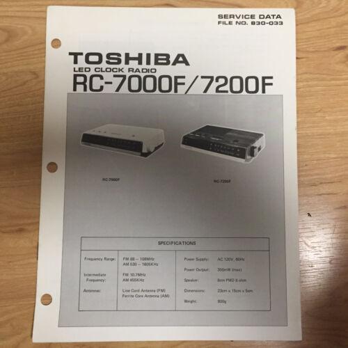 Original Toshiba Service Manual for RC /& RP Model Radios ~ Select One