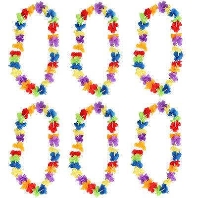 Fiore Ghirlanda Hawaiana Ghirlanda Collana Donna Da Uomo Luau Lotto Costume Festa-mostra Il Titolo Originale Delizie Amate Da Tutti