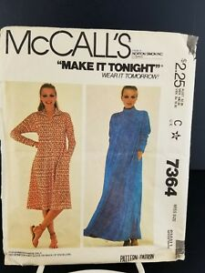 4fab3d61bd59 McCall's Pattern #7364 Misses' Robe For Stretch Knits Size Small ...