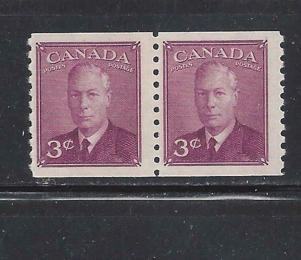 CANADA - 299 -SE-TENANT PAIR - MH/MNH -  COIL STAMPS - 1950 - KING GEORGE VI