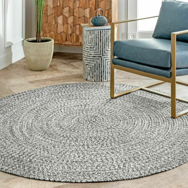 Nuloom Braided Contemporary Modern Indoor Outdoor Area Rug In Gray