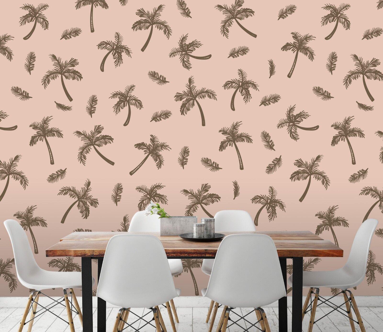 3D Tropical Tree Retro 2 Wallpaper Mural Wall Print Decal Indoor Murals AU Lemon