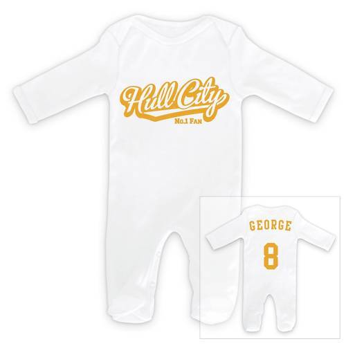 HULL CITY Personalised Baby Sleep Suit Romper