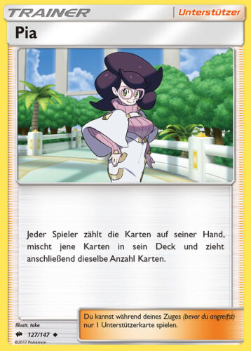 Pokemon 127//147 Pia Sonne und Mond Nacht in Flammen