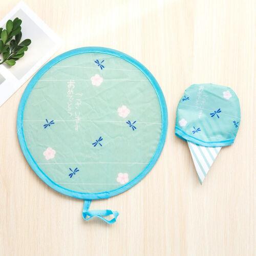 Portable Cute Cartoon Pattern Fans Foldable Small Round Hand Fan Cool Pocket Bu