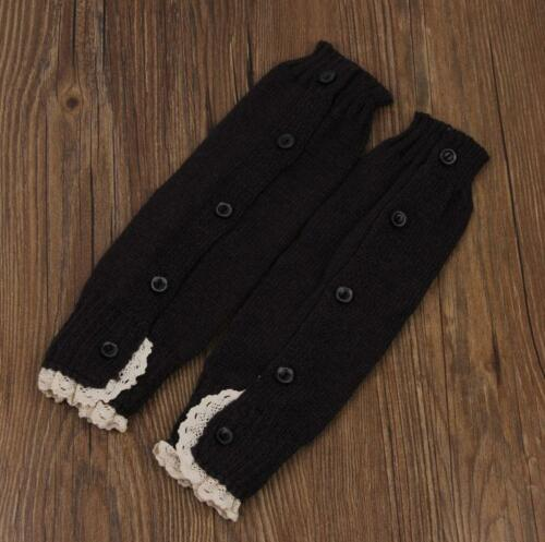 Kids Baby Girl Crochet Knitted Lace Boot Cuffs Toppers Leg Warmer Socks DS