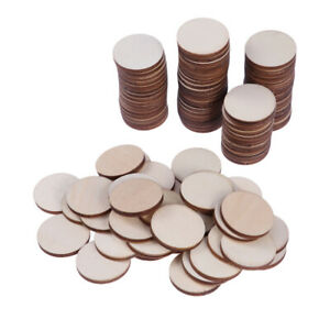 100pcs-Natural-Wood-Slices-Round-Disc-Tree-Bark-Log-Wooden-Circles-for-DIY-Craft