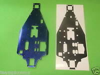 Traxxas Nitro 4-tec Chassis Plate Black Carbon Fiber Look Chassis Protector