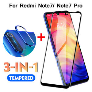 Tempered-Glass-Protector-Camera-Lens-Film-Metal-Ring-For-Xiaomi-Redmi-Note-7-aa