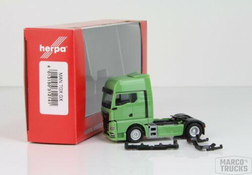 312141 //HN450 Herpa MAN TGX GX Zugmaschine lindgrün Nr