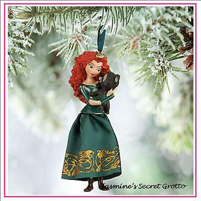 AUTHENTIC 2015 DISNEY BRAVE PRINCESS MERIDA SKETCHBOOK CHRISTMAS ORNAMENT  BNIB
