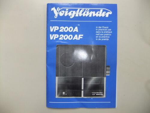 Las instrucciones Proyector De Diapositivas Voigtlander VP200A VP200AF CD//correo electrónico