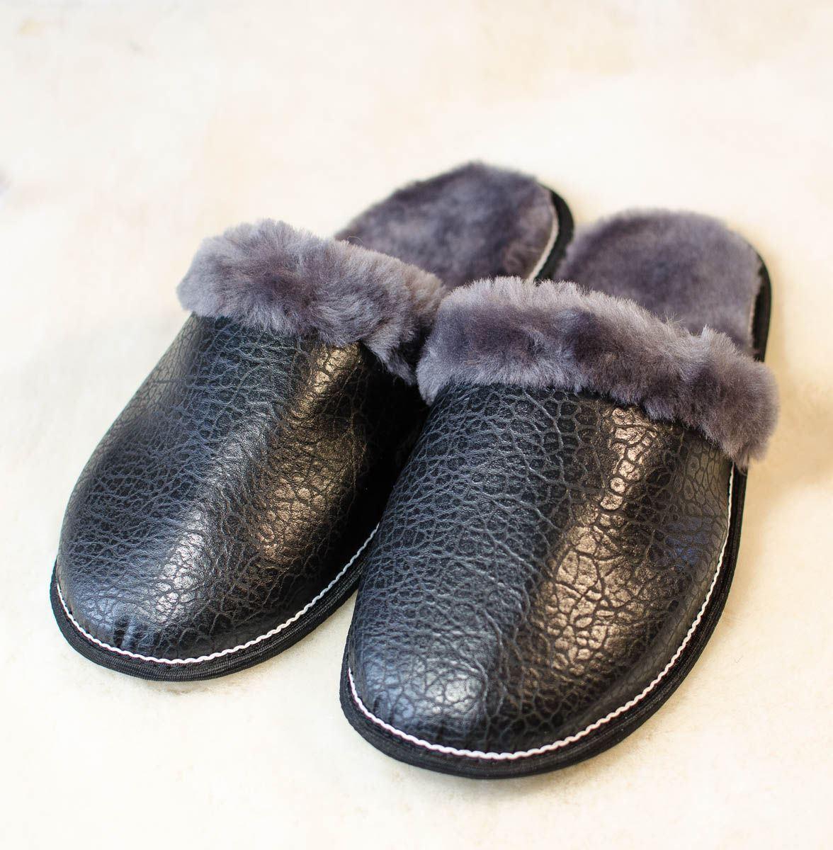 Herren Pelz Hausschuhe Natürlich Schaffell Winter Socken Wollen Stiefel Fell