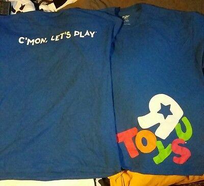Vintage Toys R Us Uniform Shirt 3XL XXXL Red Short Sleeve Button Up Toy Store Employee