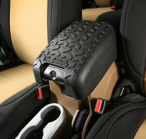 Rugged Ridge Center Console Arm Rest Cover Black FOR 11-17 Jeep Wrangler JK