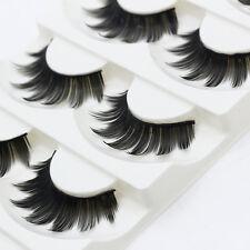5pairs 3D Black Thick False Eyelashes For Women Eyes Makeup Tools Long Lasting