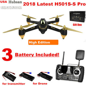 Hubsan H501SS Pro FPV Drone 5.8G 1080P Brushless GPS Quadcopter...