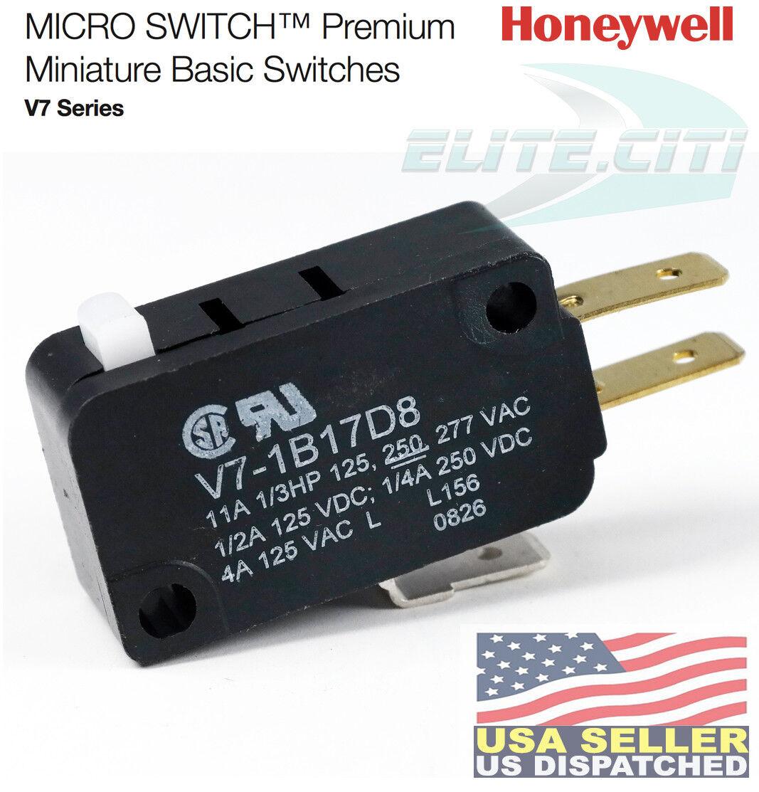 HONEYWELL S/&C SPDT Pin 250VAC Microswitch 11 A V7-7B17D8
