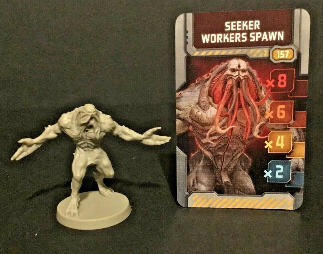 Zombicide Invader Seeker Workers Spawn CMoN Kickstarter Exclusive Xeno w//card