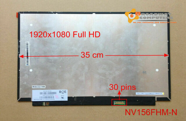 15.6 slim led full hd 1920x1080 30pins LP156WFC SP D1 N156HCA-EAB 35cm width