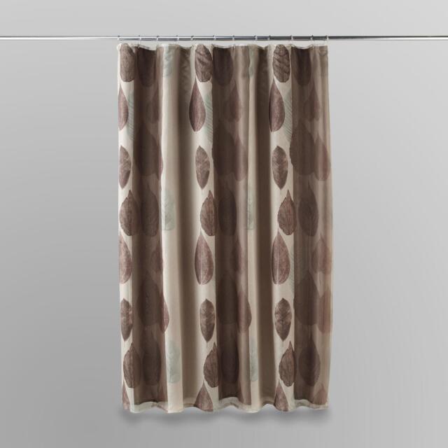 Essential Home Gossamer Leaf Fabric Shower Curtain Liner