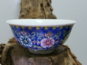 Chinese-Handpainted-Porcelain-Famille-Rose-Bowl