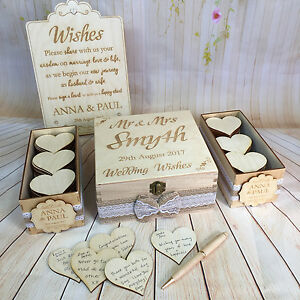 Image Is Loading Wooden Rustic Wedding Wish Box Guest Book Alternative