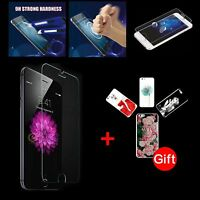 Tempered Glass Screen Protector For iPhone 4 4S 5 5S 6 6Plus +  Free Case Cover