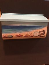 Hand Painted Wall-mounted Woodlands Series Mailbox nautical design, beach