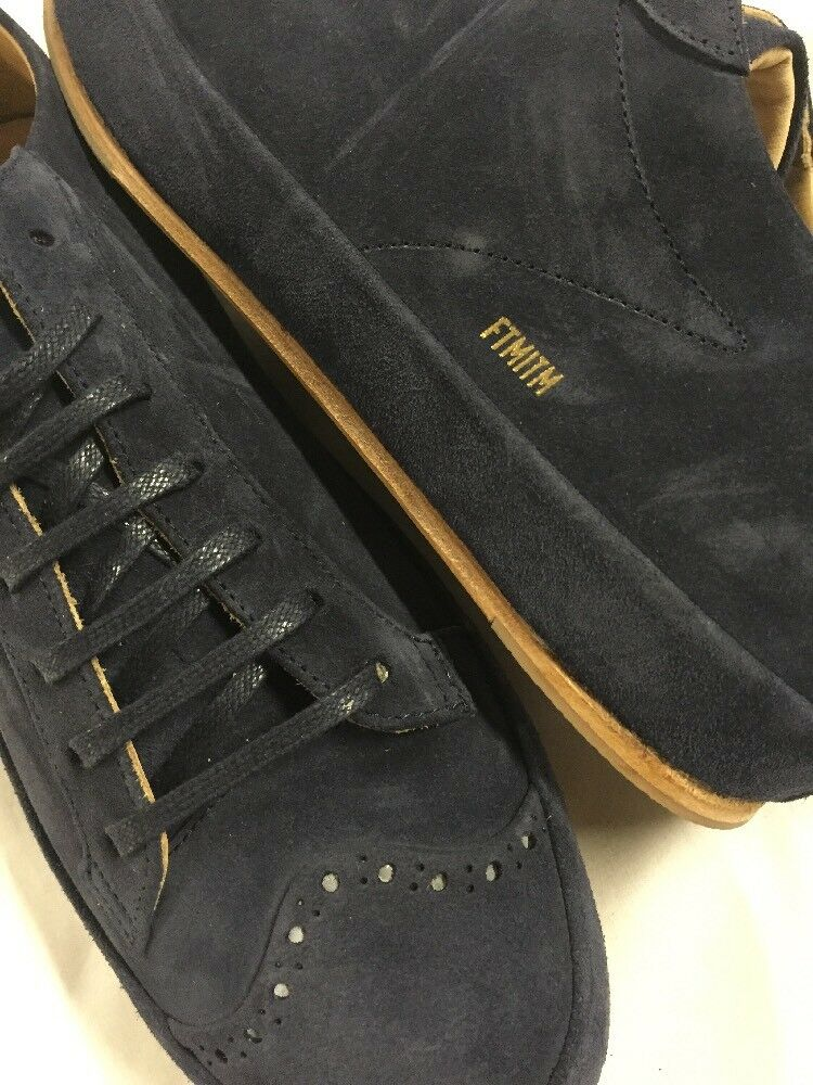 325 Freeman Plat Court Low Tennis Navy Men's Leather SNEAKERSSize 9 EUR 42 0d91e0