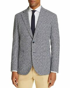 L-B-M-1911-Men-039-s-Unconstructed-Slim-Fit-Tweed-Navy-Sport-Coat-US-46R-IT-56R