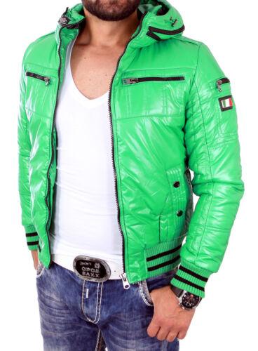 Reslad casual hommes veste en nylon brillant veste d/'hiver avec plie Capuche rs-23