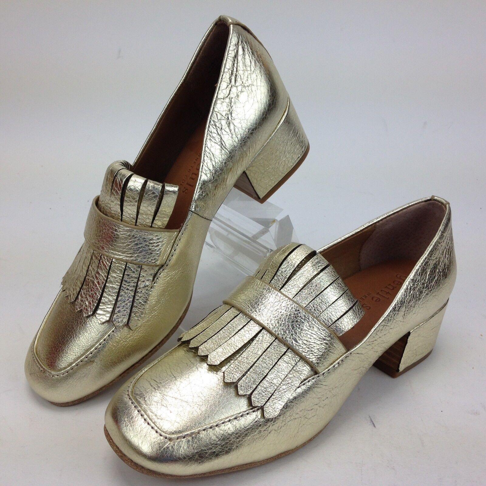 Gentle Souls Ethan Zapatos Mocasines para mujeres Oro Oro mujeres M Nuevo Sin Caja 253b02