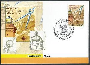 2004 Italia Cartolina Postale Fdc Genova Cultura Europea - Y2