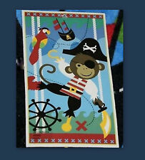 "Jumping Beans Boys Soft Velour PIRATE MONKEY Parrot Beach Pool Towel NEW 30""x60"""