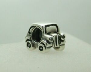 Genuine-Pandora-Silver-And-Cubic-Zirconia-Car-Shaped-Charm