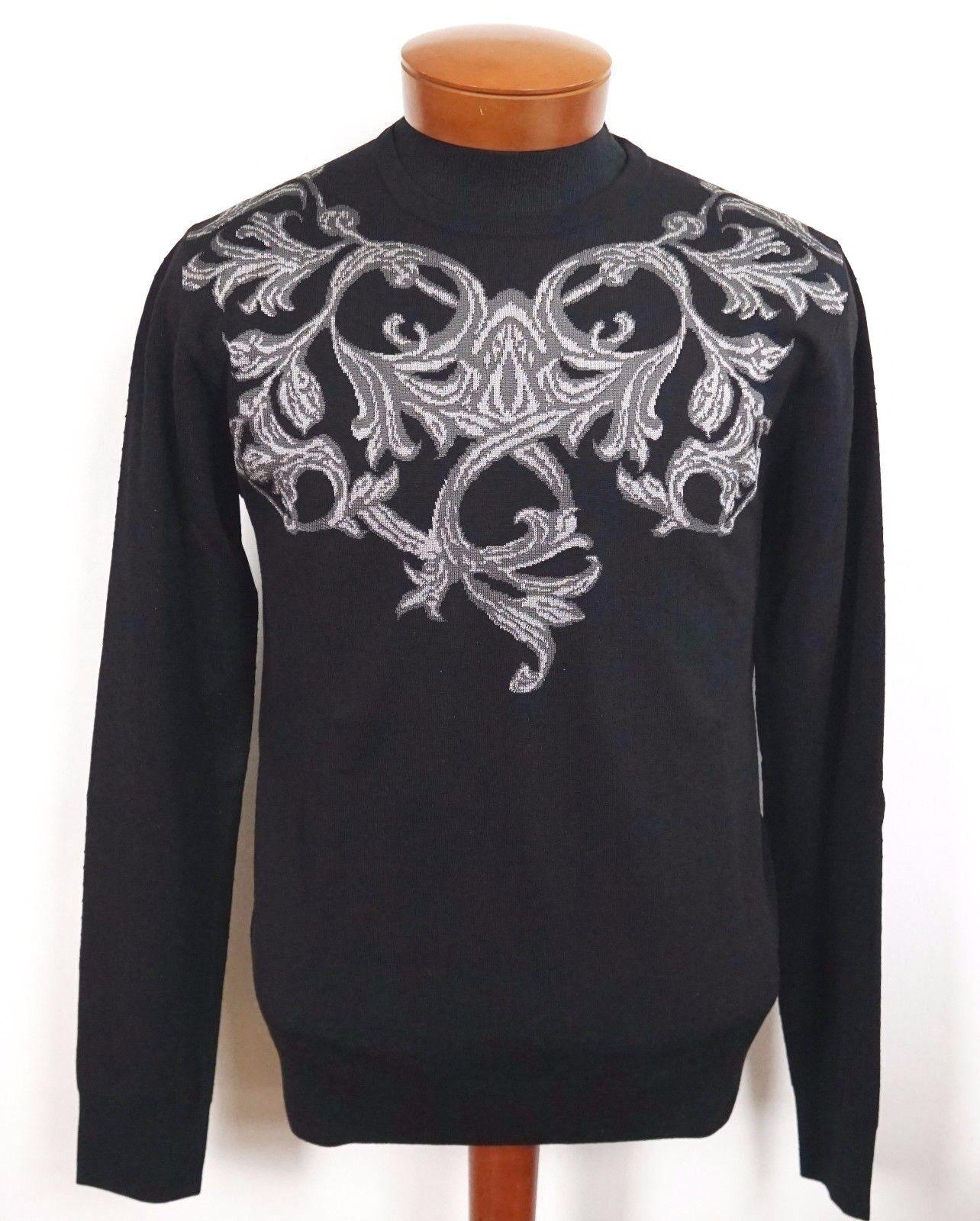 775 NWT VERSACE BAROQUE Wool Knitted Sweater IT-48/M IT-56/XL IT-58/2XL