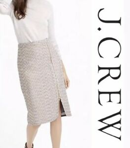 8272d9581e061b $148 NWT J Crew Zip Front Pencil Skirt In Sparkle Tweed Knee Length ...