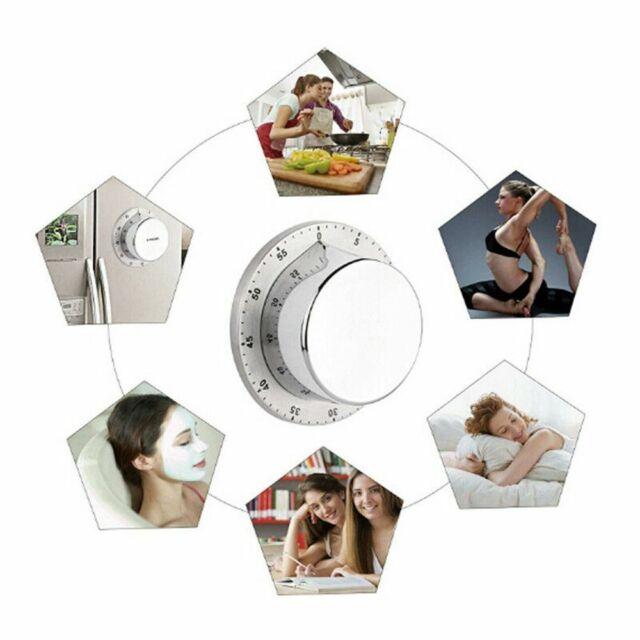 Mechanical Kitchen Timers Loud Alarm Sound With Magnet 60 Minutes Countdown  T