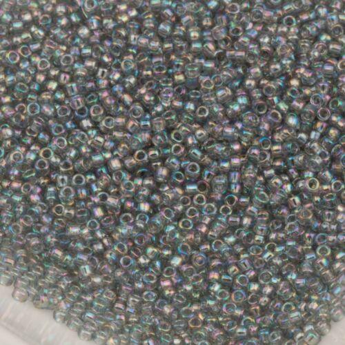 Toho Seed Beads 15//0 Light Black Diamond Transparent Rainbow 10g #176 10647206