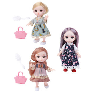 Moveable Jointed Mini 14 Joints 6inch 1//12 BJD Doll Makeup Lovely Baby Doll