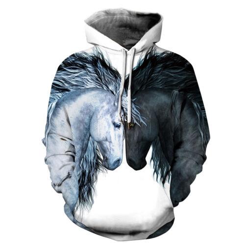 Womens Mens Funny Hoodies Sweater Casual Sweatshirt Pullover Jumper Hooded Tops