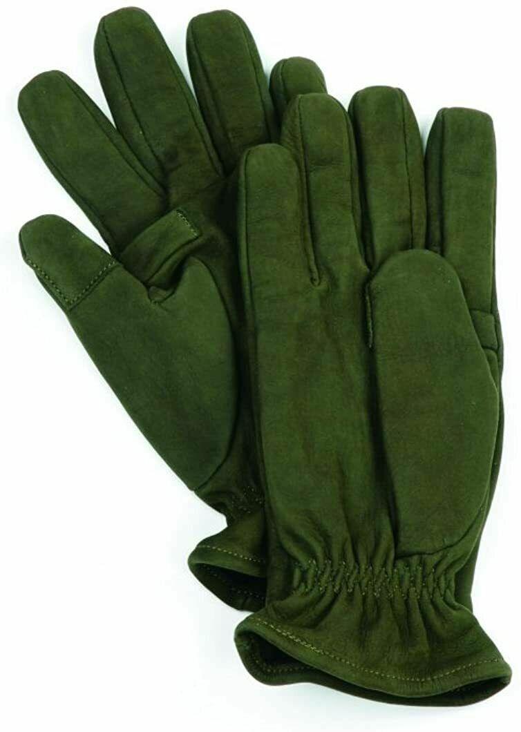 Bonart Mens Wolf Leather Gloves