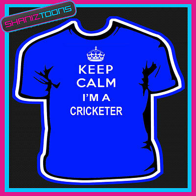 KEEP CALM I/'M A CRICKETER CRICKET PLAYER ADULTS MENS LADIES HOODIE HOODY GIFT